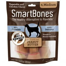 SmartBones Peanut Butter Medium 4 PK